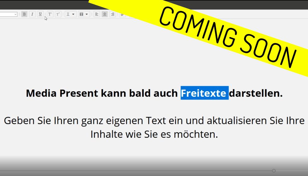 Coming Soon: Freitexte